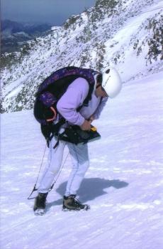 vor dem Start am Gletscher ...