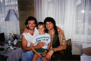 Chris mit Sohn Silvio und Costa Cordalis