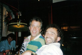 Chris mit Dave Dee bei der Bädertour 1989
