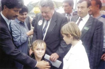 Sohn Silvio mit Franz - Josef Strauß