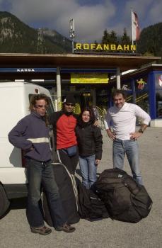 Chris mit Mike Küng, Toni Bender und Nicole Freytag