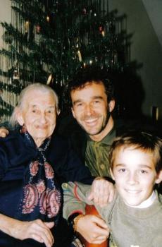 Chris mit Omi Helene (wurde 102) und Sohn Silvio